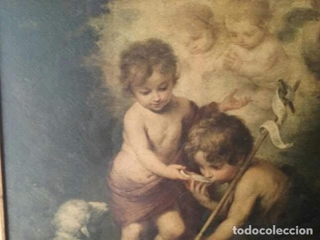 Arte: CUADRO ANTIGUO RELIGIOSO DE MURILLO-ES UNA SERIGRAFÍA- LOS NIÑOS DE LA CONCHA - Foto 2 - 129432003