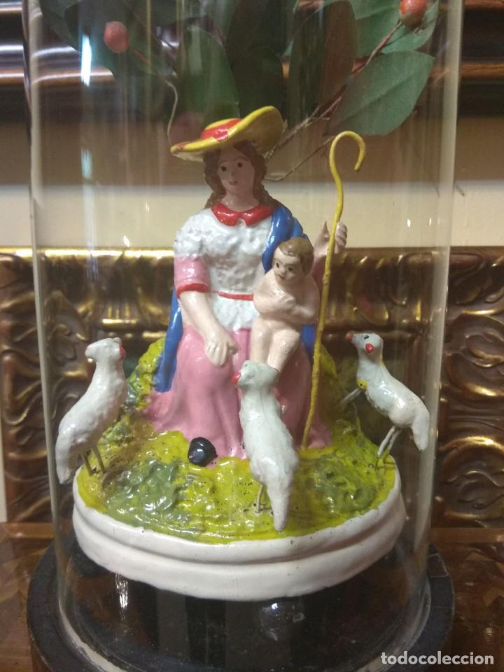 Arte: Escultura Divina Pastora en Terracota XIX - Foto 2 - 129444287