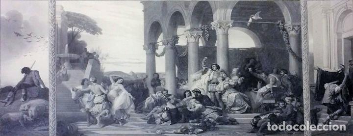 L'ENFANT PRODIGUE. GRABADO. LÉON GIRARDET. VERLAG VON GOUPIL. BERLIN-ALEMANIA. 1876 (Arte - Arte Religioso - Grabados)
