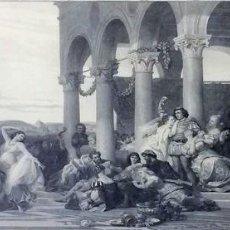 Arte: L'ENFANT PRODIGUE. GRABADO. LÉON GIRARDET. VERLAG VON GOUPIL. BERLIN-ALEMANIA. 1876. Lote 129511015