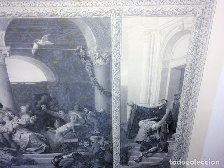 Arte: L'ENFANT PRODIGUE. GRABADO. LÉON GIRARDET. VERLAG VON GOUPIL. BERLIN-ALEMANIA. 1876 - Foto 3 - 129511015