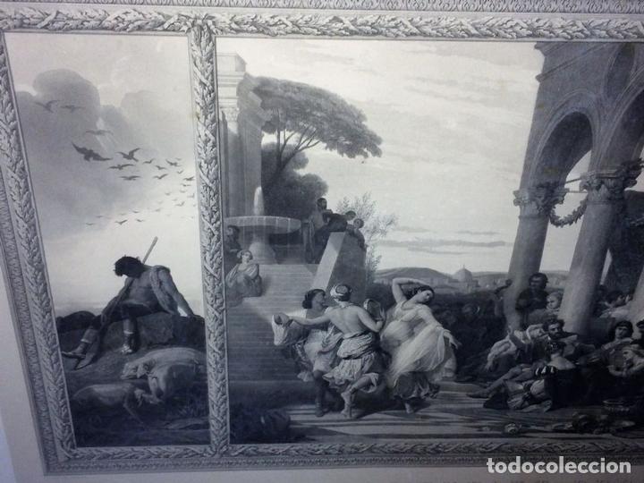 Arte: L'ENFANT PRODIGUE. GRABADO. LÉON GIRARDET. VERLAG VON GOUPIL. BERLIN-ALEMANIA. 1876 - Foto 5 - 129511015