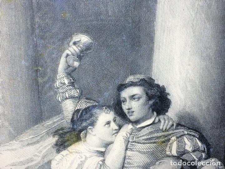 Arte: L'ENFANT PRODIGUE. GRABADO. LÉON GIRARDET. VERLAG VON GOUPIL. BERLIN-ALEMANIA. 1876 - Foto 8 - 129511015