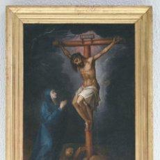 Arte: ESCUELA ESPAÑOLA. SIGLO XVIII. CRUCIFICADO. ÓLEO SOBRE LIENZO.. Lote 129513775