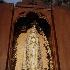 Arte: CAPILLA DE LA VIRGEN DEL SANTISIMO ROSARIO DORADA AL ORO FINO. Lote 129640379