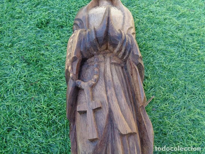 Arte: bonita talla de virgen en madera - Foto 9 - 129733715