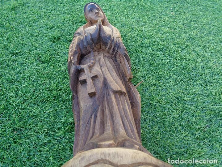 Arte: bonita talla de virgen en madera - Foto 12 - 129733715
