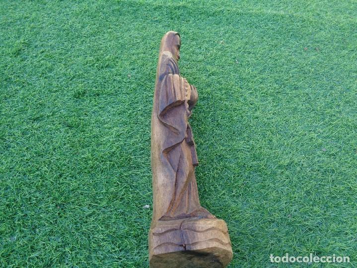 Arte: bonita talla de virgen en madera - Foto 14 - 129733715