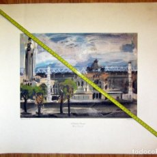 Arte: LITOGRAFIA GRAFICAS OFFSET REPRODUCCION SATOR ANTONI VIVES FIERRO 91 L´ESTADI OLIMPIC. Lote 129750075