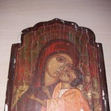 Arte: ANTIGUO RETABLO, ICONO PINTADO SOBRE TABLA. Lote 130137954