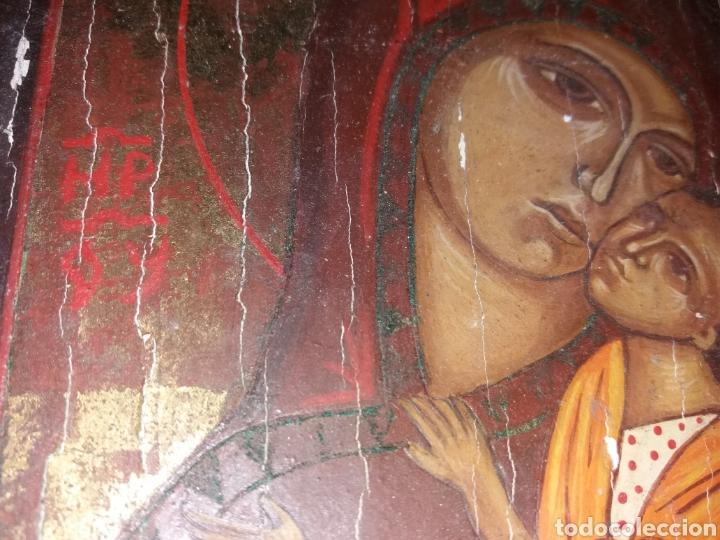 Arte: Antiguo retablo, icono pintado sobre tabla - Foto 2 - 130137954