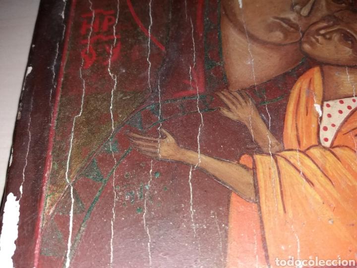 Arte: Antiguo retablo, icono pintado sobre tabla - Foto 3 - 130137954