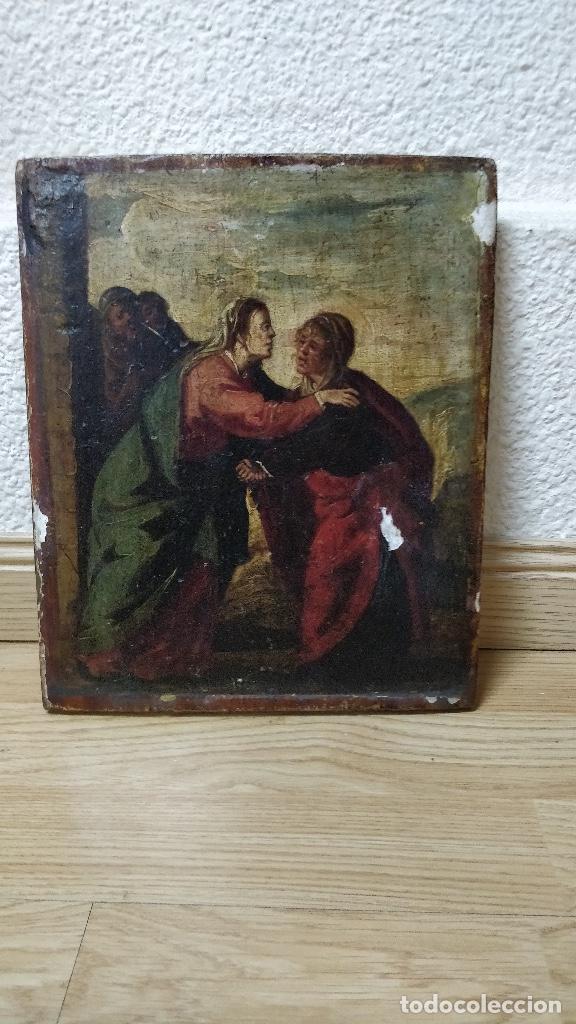 RETABLO MUY ANTIGUO (POSIBLE S.XVI) CON MOTIVO RELIGIOSO. (Arte - Arte Religioso - Retablos)
