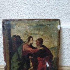 Arte: RETABLO MUY ANTIGUO (POSIBLE S.XVI) CON MOTIVO RELIGIOSO.. Lote 130148435