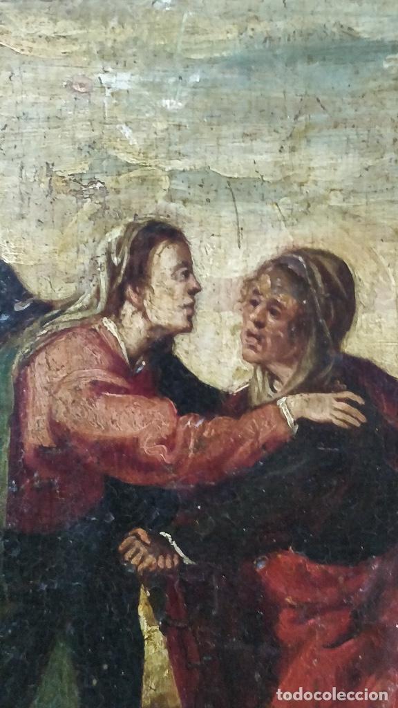 Arte: Retablo muy antiguo (Posible S.XVI) con motivo religioso. - Foto 2 - 130148435