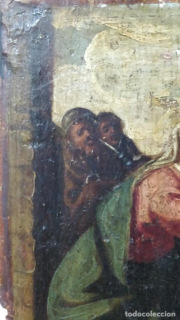 Arte: Retablo muy antiguo (Posible S.XVI) con motivo religioso. - Foto 3 - 130148435