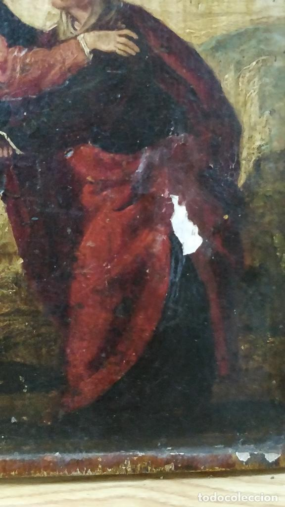 Arte: Retablo muy antiguo (Posible S.XVI) con motivo religioso. - Foto 4 - 130148435