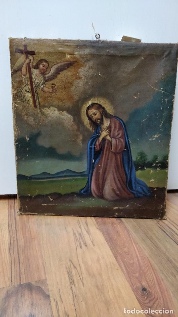 JESÚS REZA EN EL HUERTO DE LOS OLIVOS, OLEO SOBRE LIENZO S.XVII. (Arte - Arte Religioso - Pintura Religiosa - Oleo)