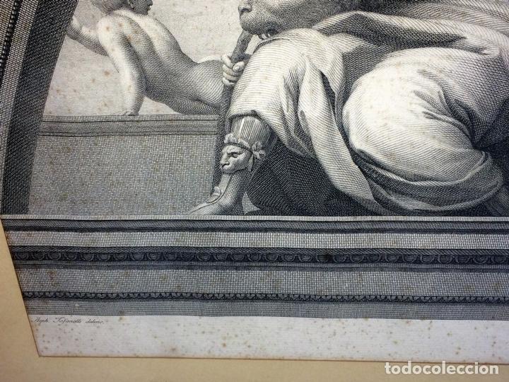 Arte: LAS VIRTUDES TEOLOGALES Y LA LEY. GRABADO. DE UN ORIGINAL DE RAFAEL. RAPH MORGHEN. ROMA. XVIII - Foto 6 - 130318098