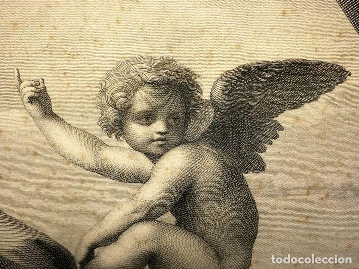 Arte: LAS VIRTUDES TEOLOGALES Y LA LEY. GRABADO. DE UN ORIGINAL DE RAFAEL. RAPH MORGHEN. ROMA. XVIII - Foto 9 - 130318098