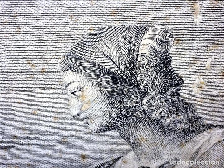 Arte: LAS VIRTUDES TEOLOGALES Y LA LEY. GRABADO. DE UN ORIGINAL DE RAFAEL. RAPH MORGHEN. ROMA. XVIII - Foto 11 - 130318098