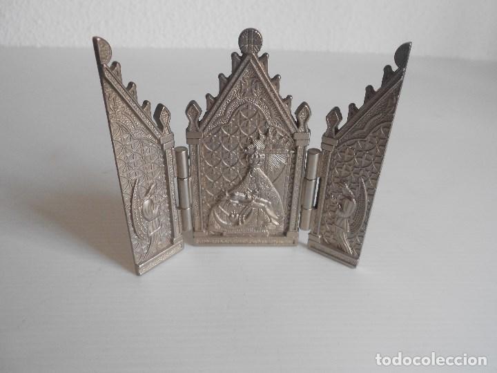 Arte: triptico metal virgen de las angustias granada - Foto 2 - 130318210