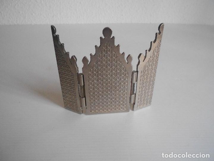 Arte: triptico metal virgen de las angustias granada - Foto 3 - 130318210