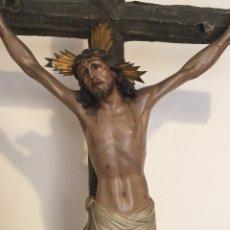Arte: ANTIGUA FIGURA - ANTIGUO CRISTO DE OLOT - EL ARTE CRISTIANO - ESPECTACULAR. Lote 130345030