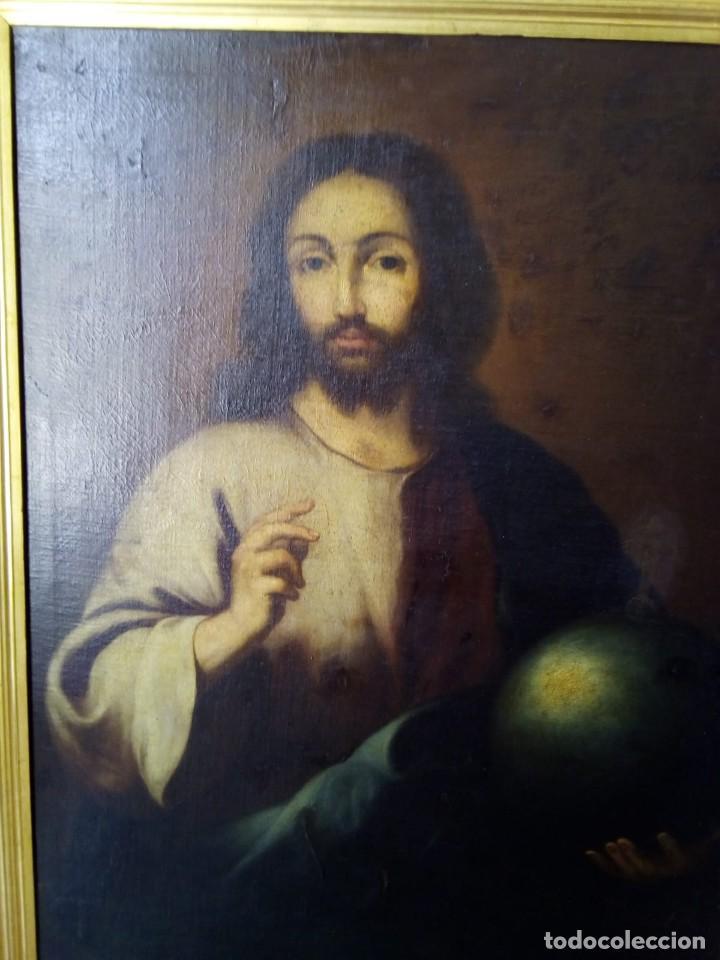 Arte: JESUCRISTO CON LA BOLA. LIENZO 110X84. SIGLO XIX PRINCIPIOS. - Foto 5 - 130373478