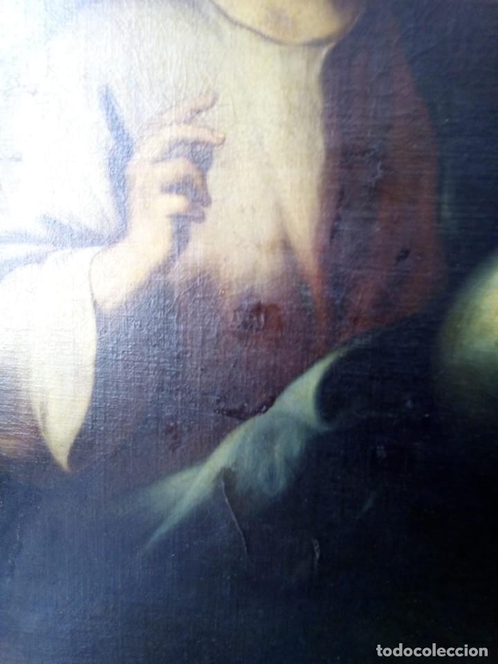 Arte: JESUCRISTO CON LA BOLA. LIENZO 110X84. SIGLO XIX PRINCIPIOS. - Foto 6 - 130373478