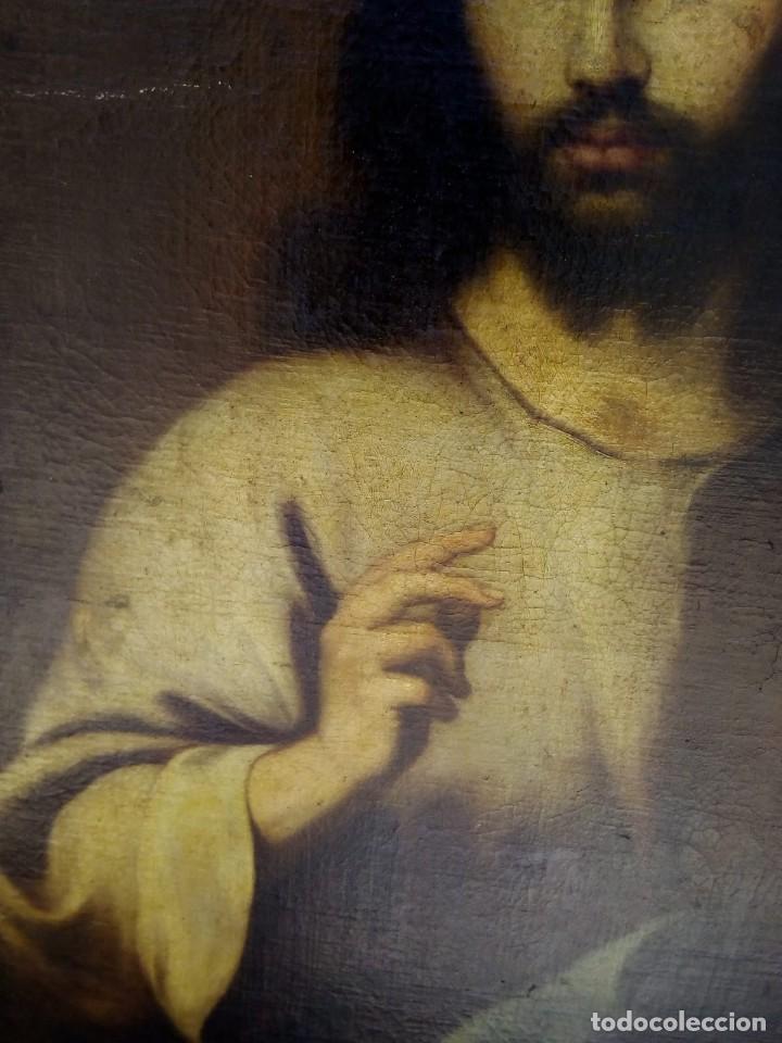 Arte: JESUCRISTO CON LA BOLA. LIENZO 110X84. SIGLO XIX PRINCIPIOS. - Foto 15 - 130373478