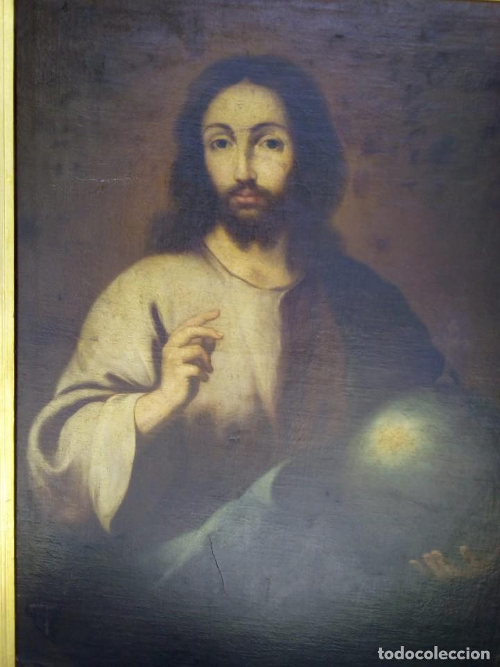 Arte: JESUCRISTO CON LA BOLA. LIENZO 110X84. SIGLO XIX PRINCIPIOS. - Foto 16 - 130373478