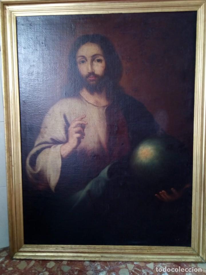 Arte: JESUCRISTO CON LA BOLA. LIENZO 110X84. SIGLO XIX PRINCIPIOS. - Foto 17 - 130373478