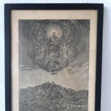 Arte: LITOGRAFÍA DE NSRA. DE BELLMUNT PARROQUIA DE SAN PEDRO DE TORELLO. VIC 1890'S.. Lote 130386550