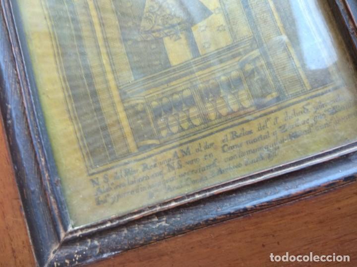 Arte: Antiguo Grabado en Seda de la Virgen del Pilar - Foto 8 - 130410558