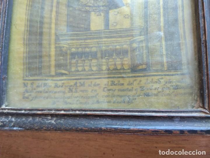 Arte: Antiguo Grabado en Seda de la Virgen del Pilar - Foto 9 - 130410558