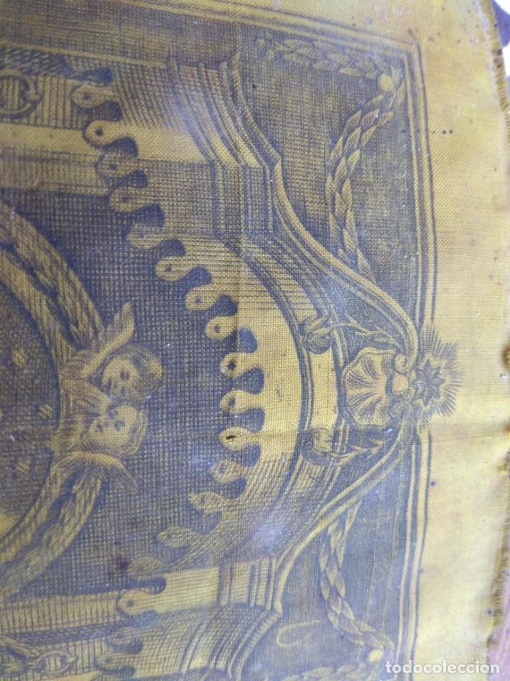 Arte: Antiguo Grabado en Seda de la Virgen del Pilar - Foto 16 - 130410558