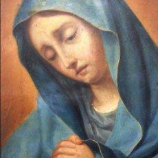 Arte: PINTURA OLEO/COBRE. VIRGEN DOLOROSA S. XVIII.. Lote 130421750