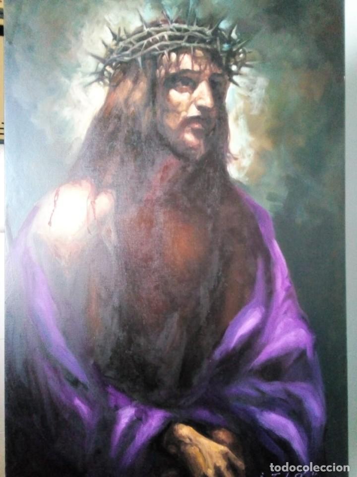 Arte: ECCE HOMO I. 100X65. JOLOGA. ELIGE MARCO A TU GUSTO. - Foto 3 - 130455362