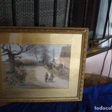Arte: PRECIOSA ACUARELA FIRMADA GEORGE SAXON 1875. Lote 130486134