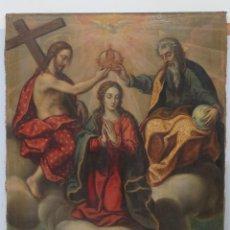 Arte: IMPORTANTE CORONACION DE LA VIRGEN. OLEO S/ LIENZO. FINALES SIGLO XVI-PPIOS. SIGLO XVII. Lote 155041296