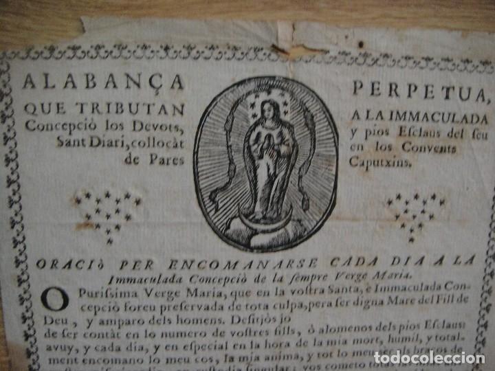 Arte: alabanca perpetua a la inmaculada por los pares de los convents caputxins. - Foto 2 - 130722164