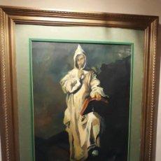Arte: OLEO ANTIGUO AÑO 1900 APROXIMADAMENTE, TITULO EL MONJE DEL SILENCIO, FIRMA Y TITULO MUY DILUIDA. Lote 130728054