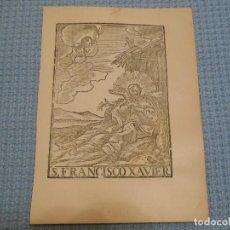 Arte: SIGLO XIX FRANCISCO XAVIER - GRABADO XILOGRAFICO RELIGION. Lote 130787312