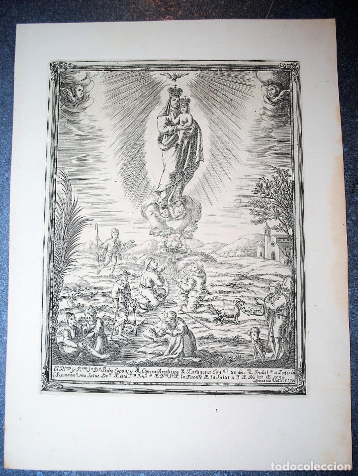 NUESTRA SEÑORA DE LA FUENTE DE LA SALUD. IGNACIO VALLS GRABADOR. (Arte - Arte Religioso - Grabados)