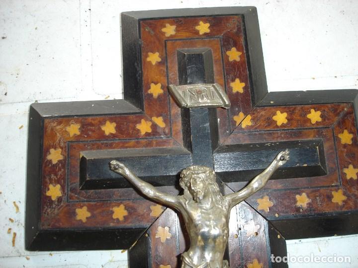 Arte: muy muy bonito crucifijoepoca Napoleon III de coleccion ver fotos - Foto 3 - 131024732