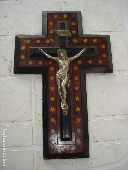 MUY MUY BONITO CRUCIFIJOEPOCA NAPOLEON III DE COLECCION VER FOTOS (Arte - Arte Religioso - Iconos)