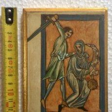 Arte: TABLA ICONO INFANTA SANCHA DE LEÓN.. Lote 131286943