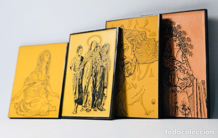 LOTE RELIGIOSO DE CUATRO GRABADOS SOBRE ESCULTURAS DE MARIANO BENLLIURE CREVILLENTE ALICANTE (Arte - Arte Religioso - Grabados)