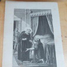 Arte: LÁMINA LITOGRAFÍA RELIGIOSA SAN JUAN DE SAHAGÚN. Lote 131355454